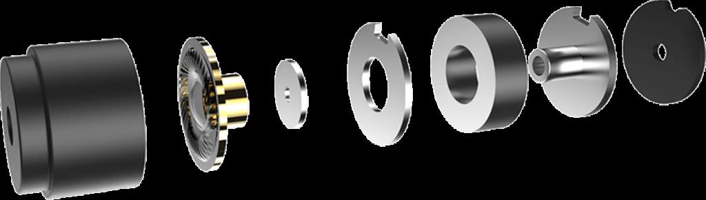 Headphone exploded view Traduki TE-01 TE-02 Trusonus
